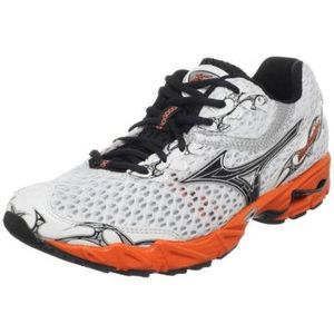 Mizuno Men's Wave Precision 11 Running Shoe,White/Anthracite-Red Orange,10.5 M US